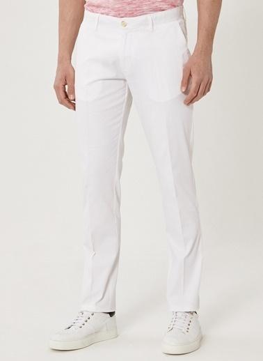Beymen Business Slim Fit Pantolon 4B0118200013 Beyaz